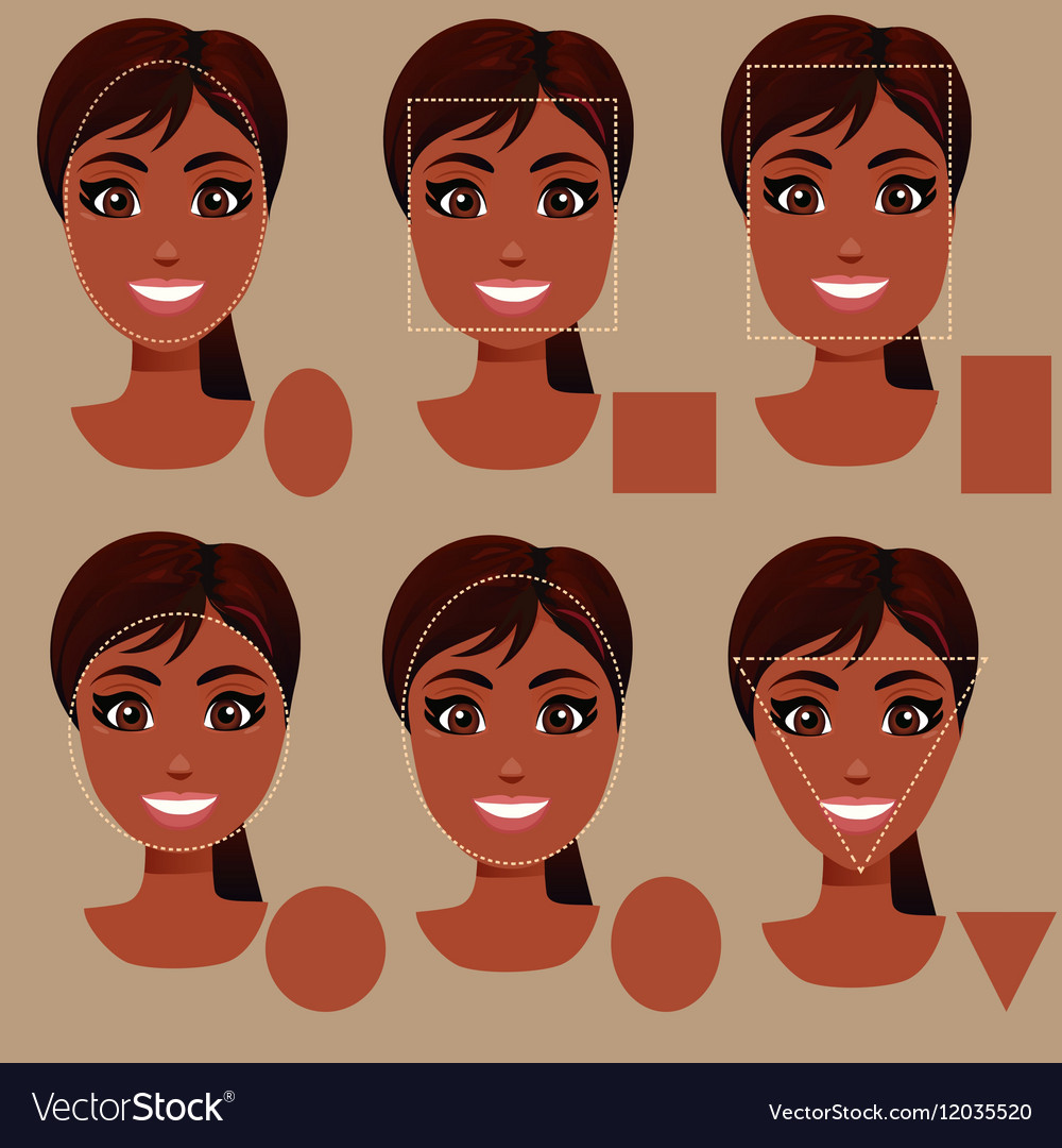 Excellent Woman Face Shape Types Royalty Free Vector Image Schematic Wiring Diagrams Amerangerunnerswayorg
