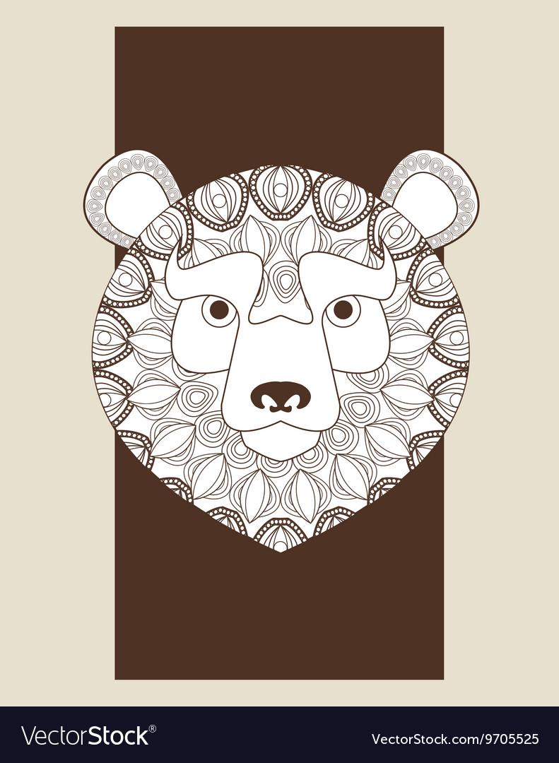 Bear icon Animal and Ornamental predator design