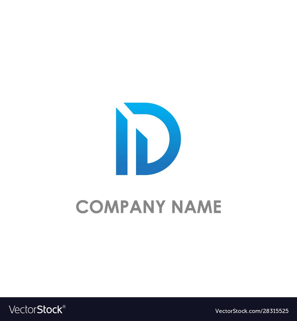 D shape line logo