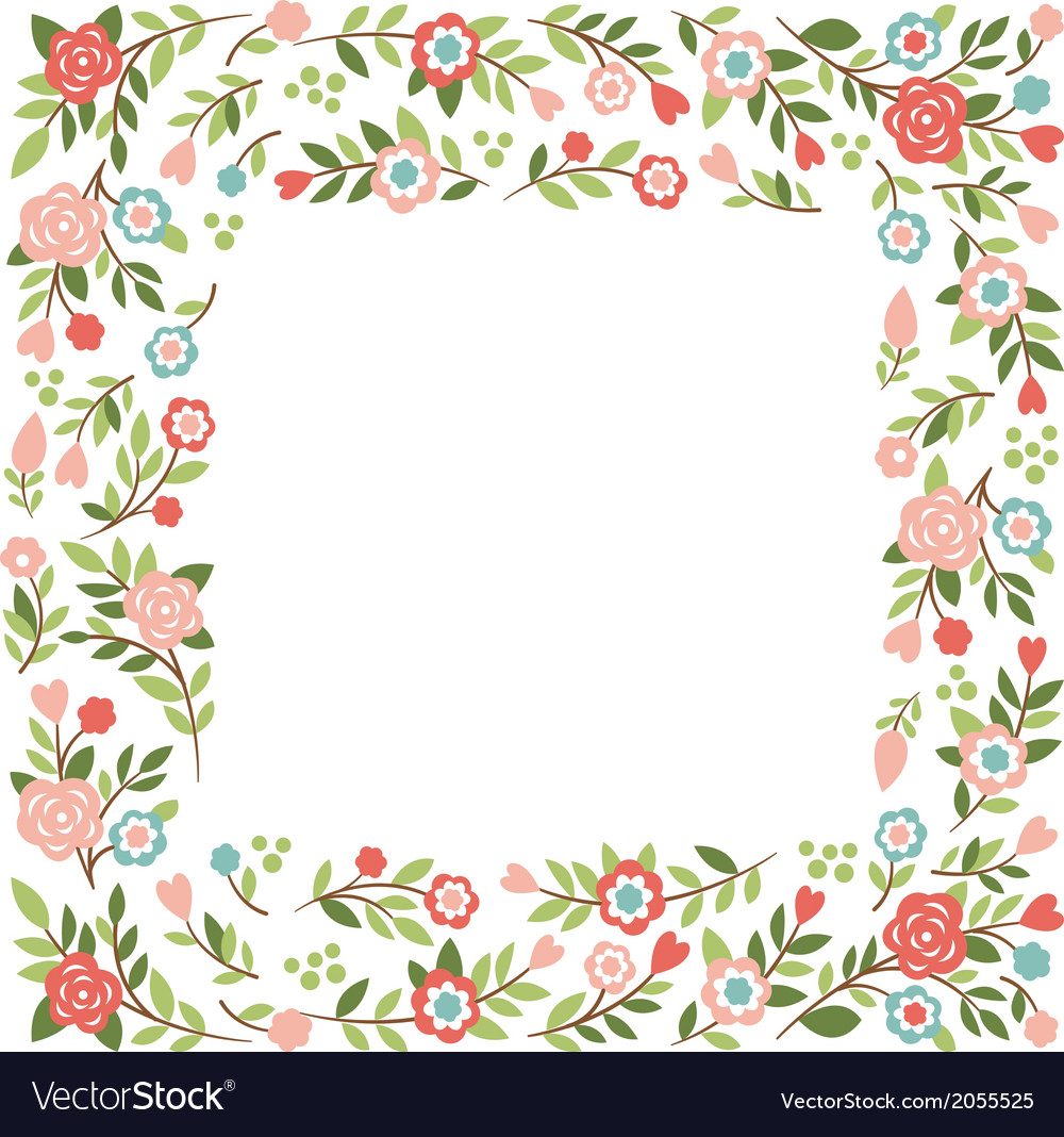 Floral Frame With Place For Your Text Royalty Free Vector