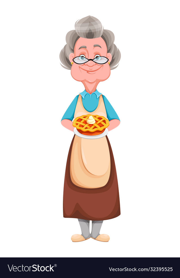 Happy grandparents day cheerful grandmother