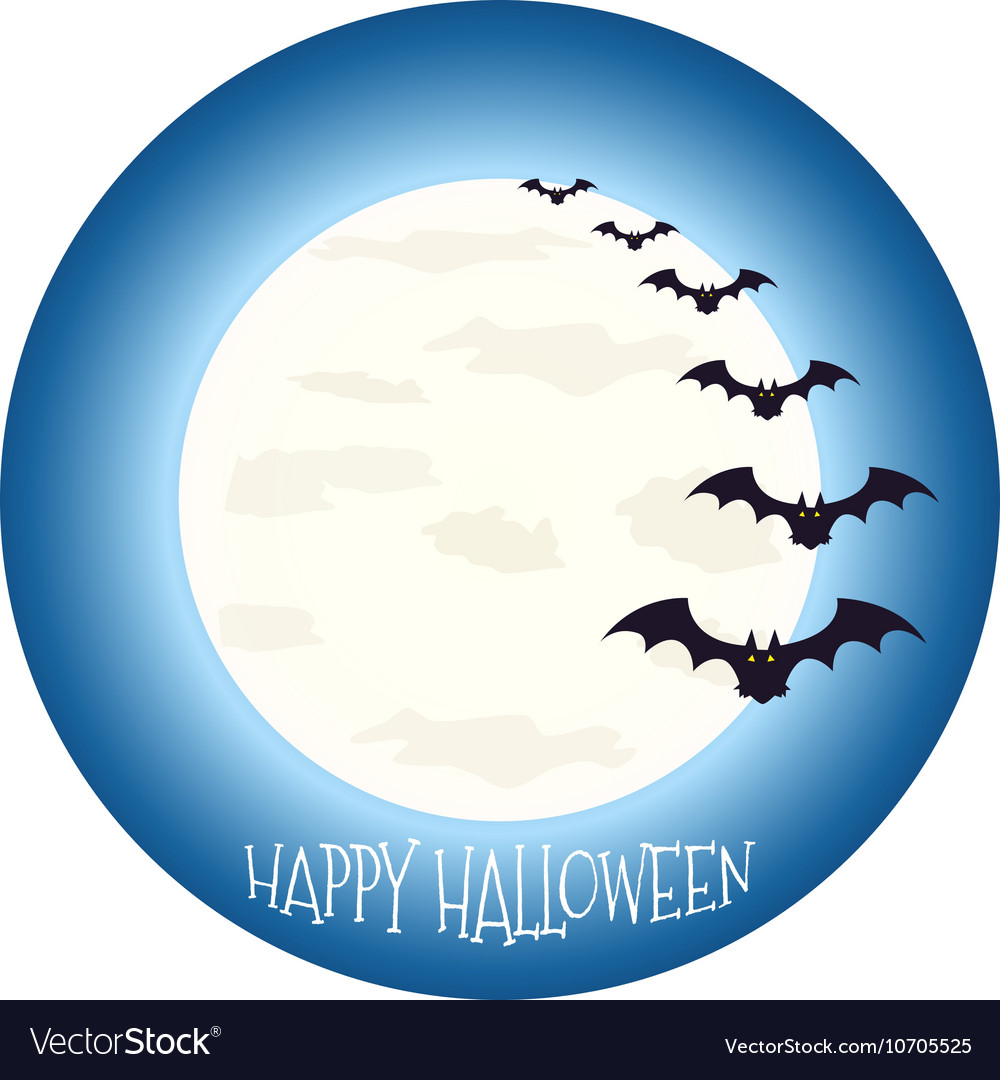 Happy Halloween icon scary on blue background
