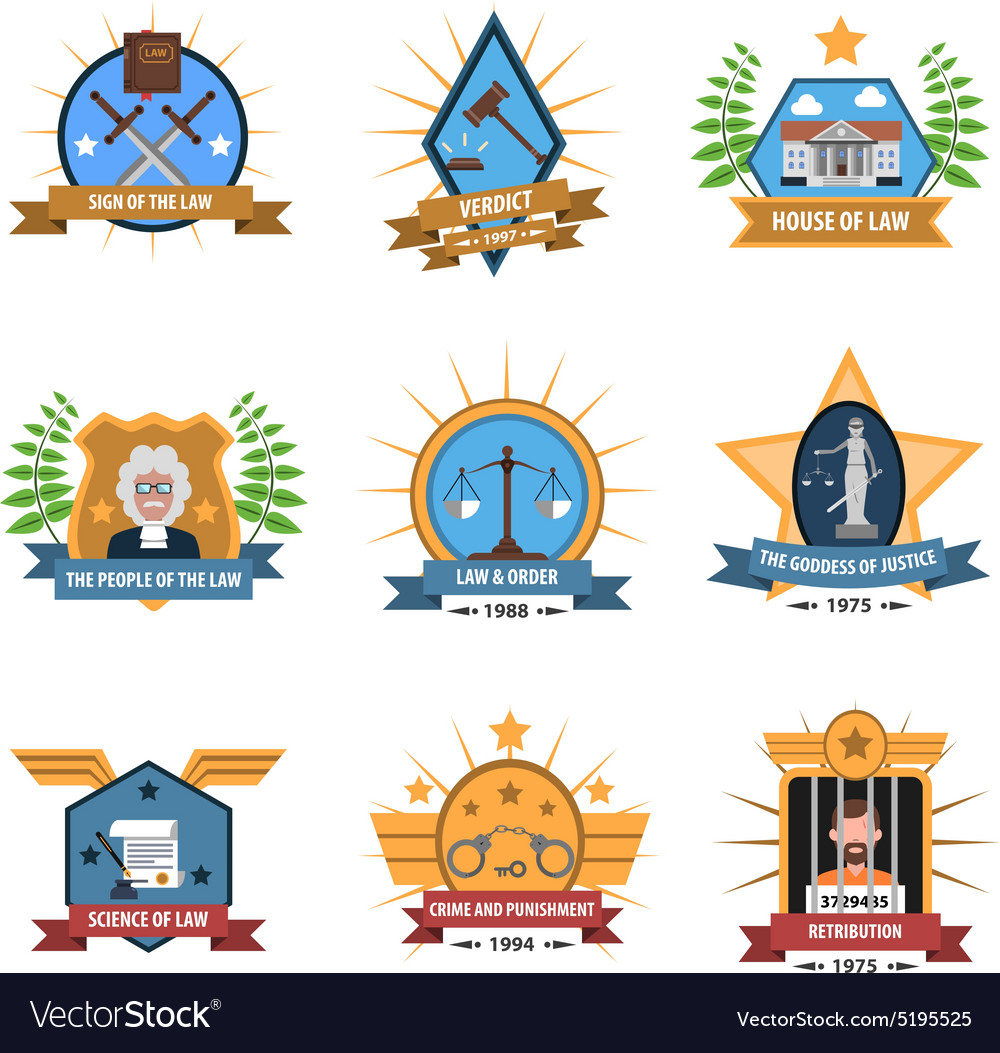 Law Label Set vector image