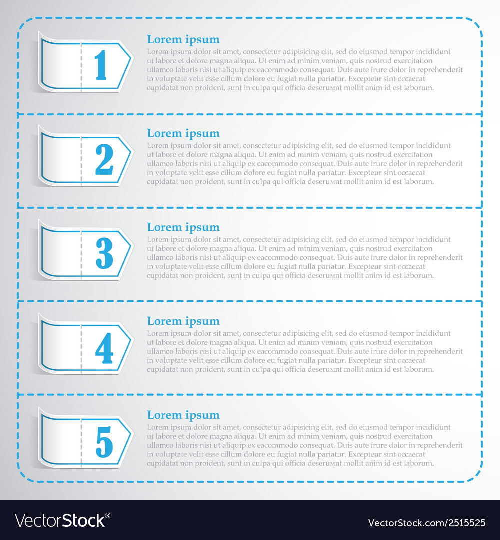 Step numbers options chek list business template vector image flashek Gallery