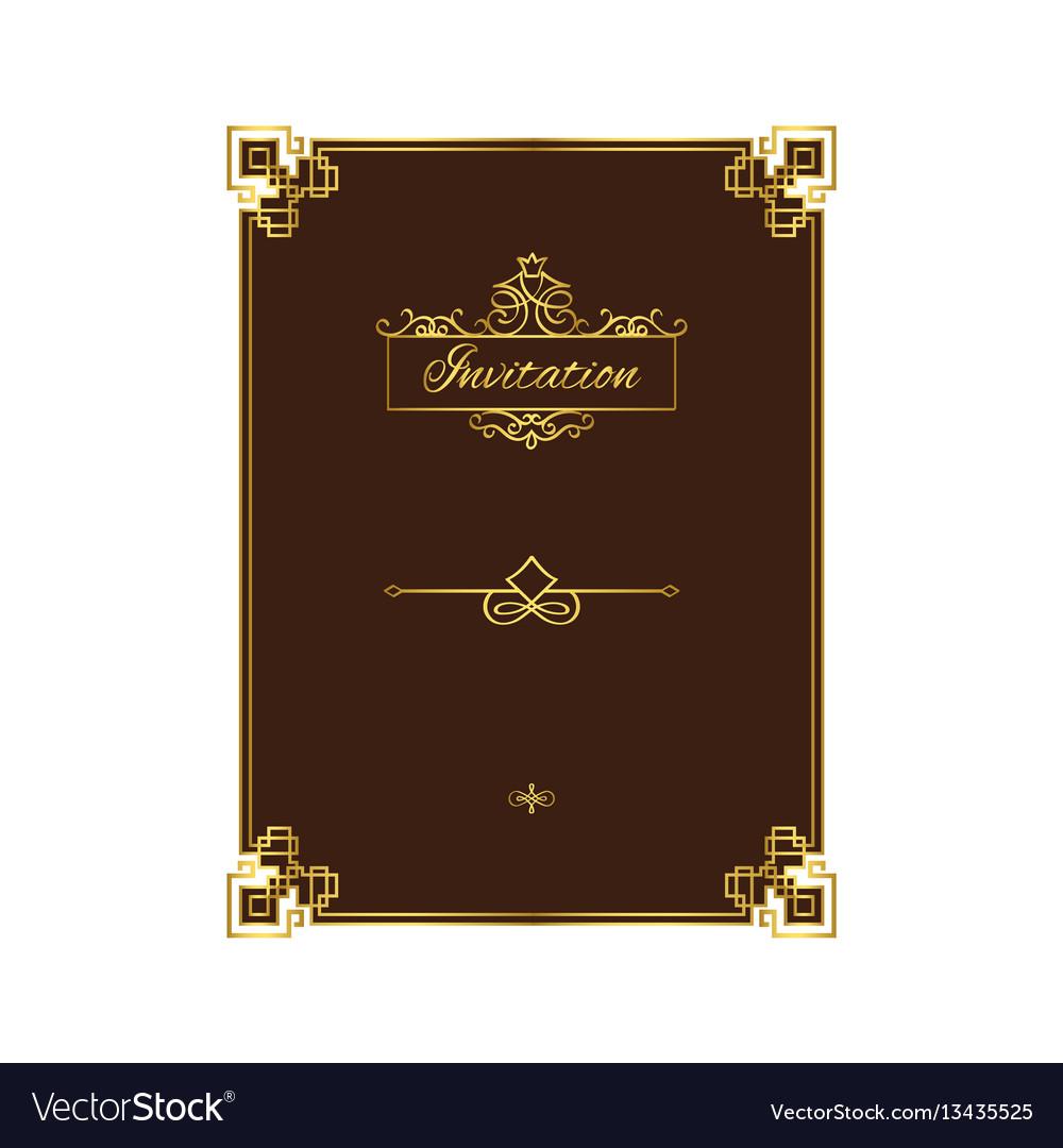 Vintage invitation with decorative frame