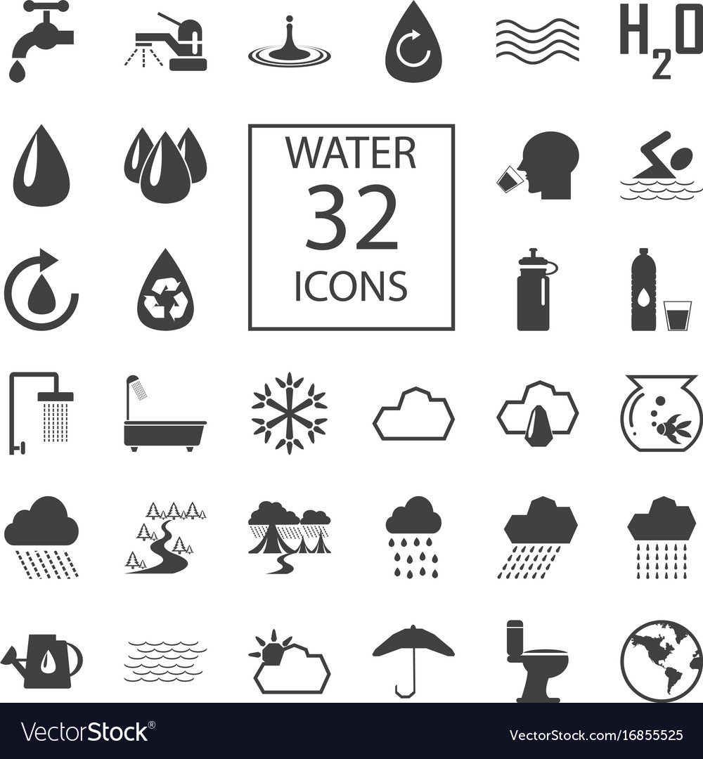 Water 32 icons
