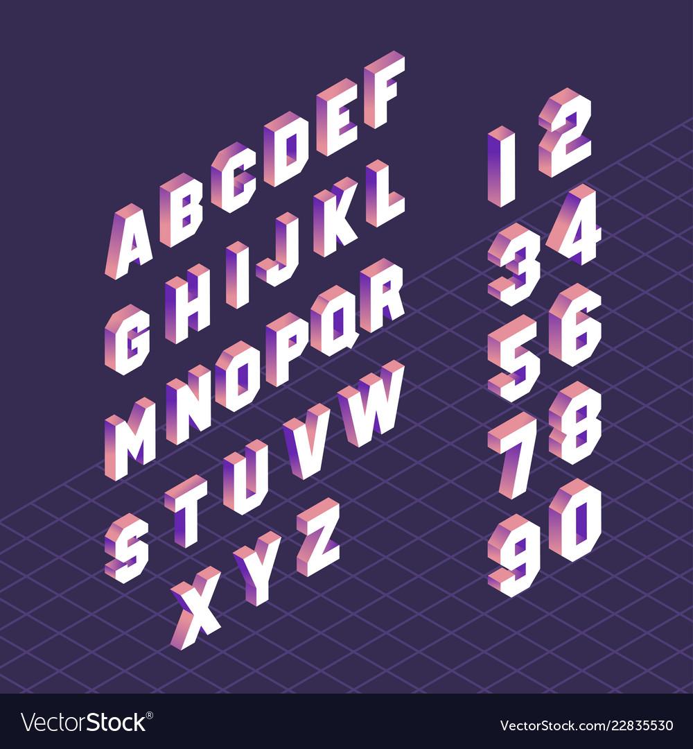 Alphabet letter symbols and numbers set design