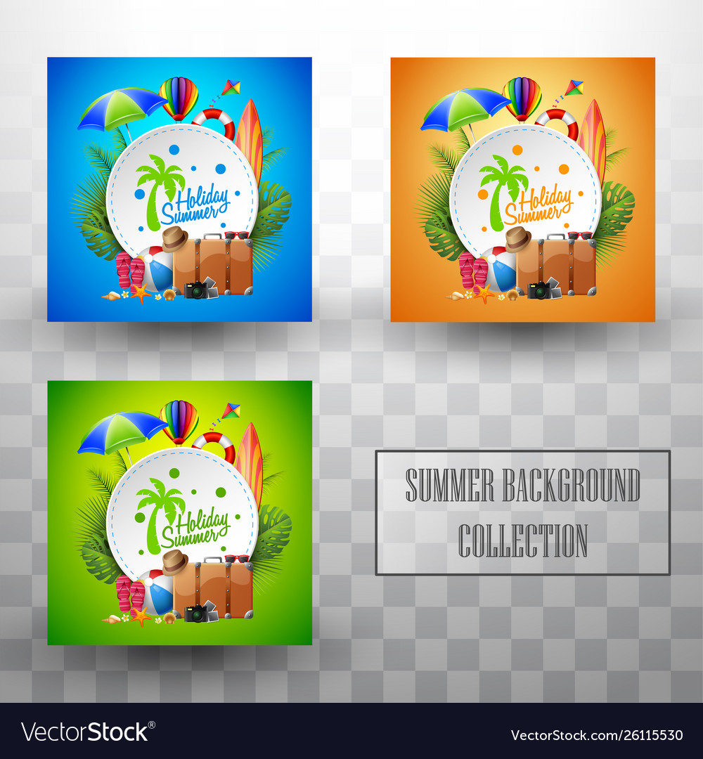 Beautiful summer template background collections