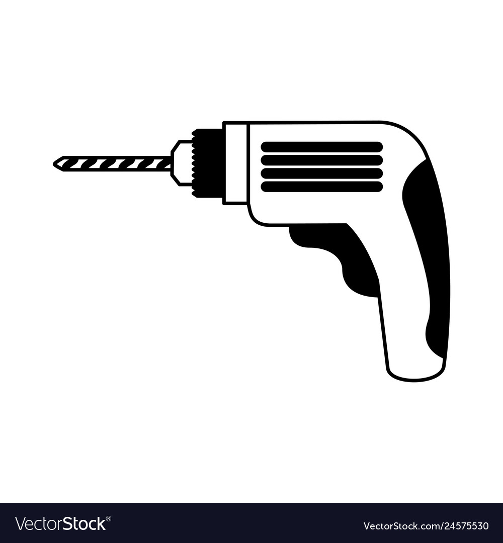 Drill Electric Tool Icon Royalty Free Vector Image