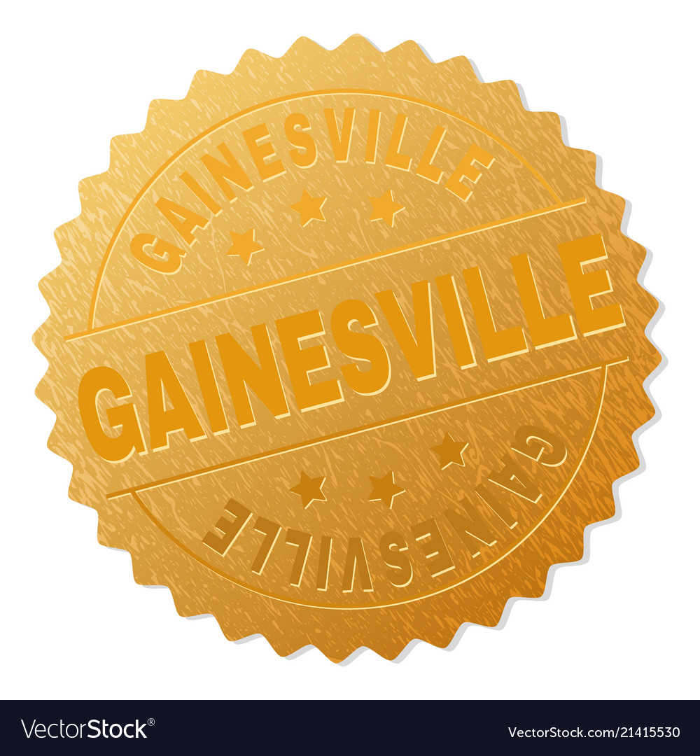 Gold gainesville award stamp