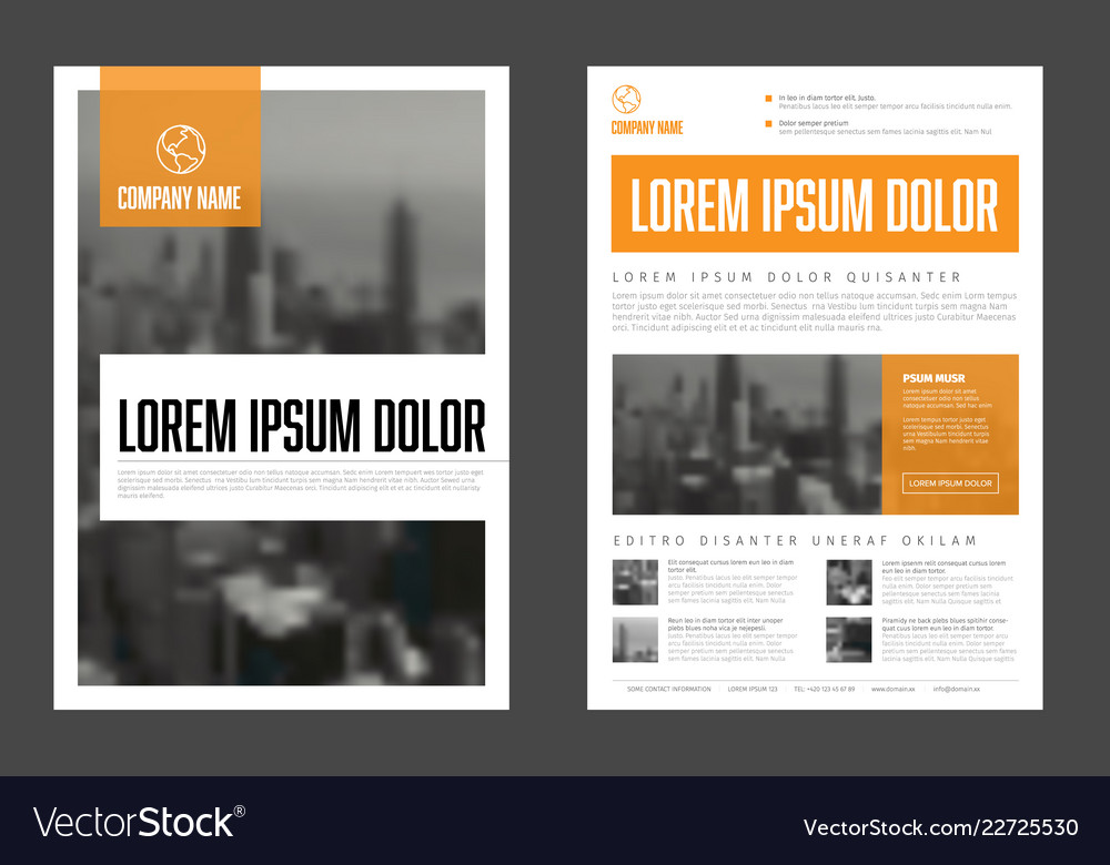 Modern orange business corporate brochure flyer