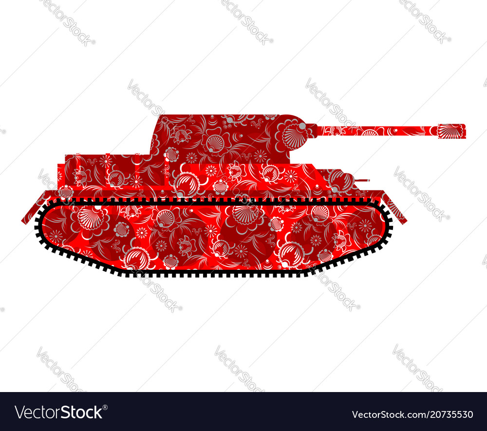Russian tank khokhloma painting russia military