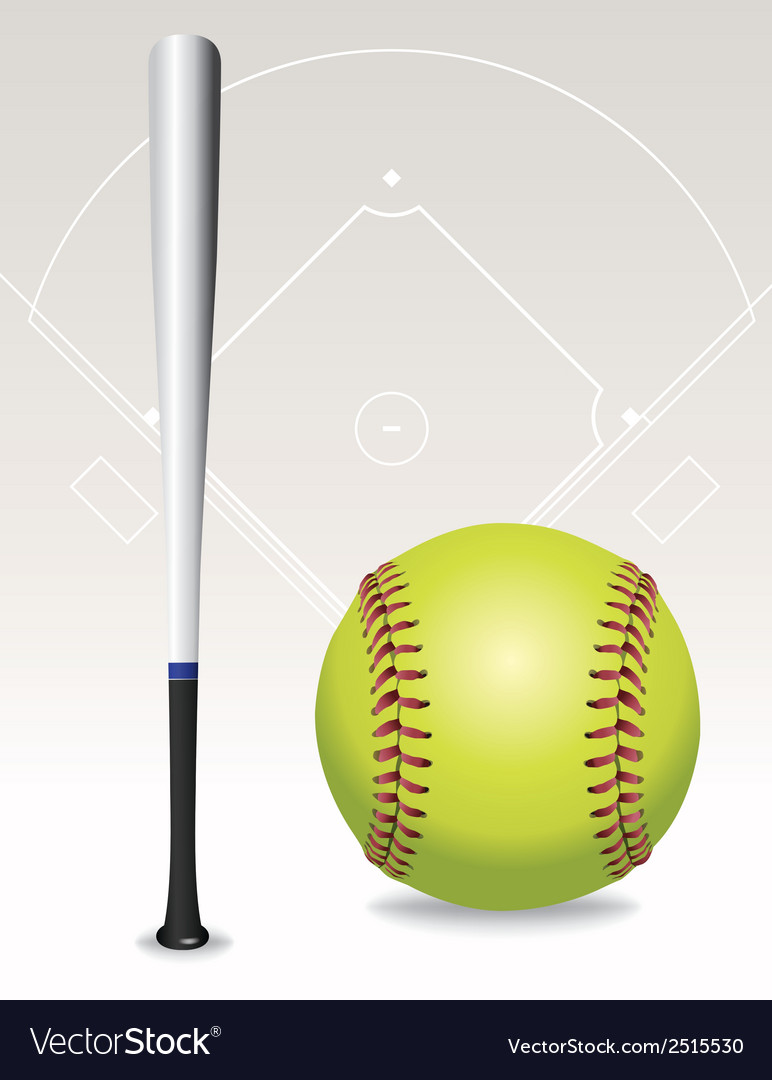 Softball and bat