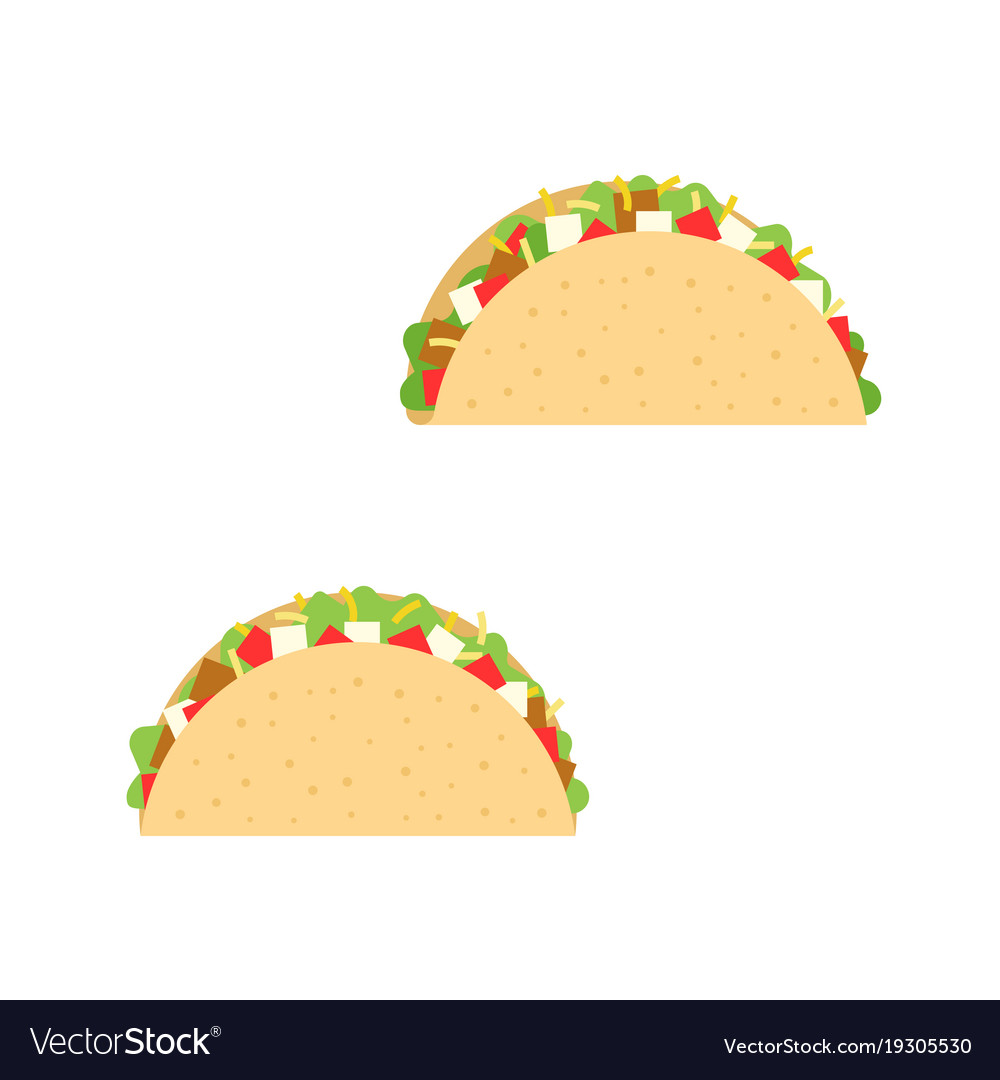 Taco mexican cuisine