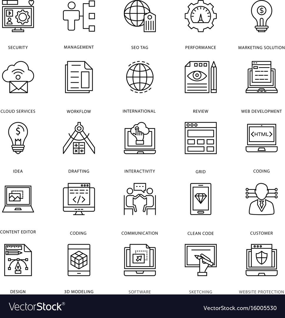 Web design and development icons 3