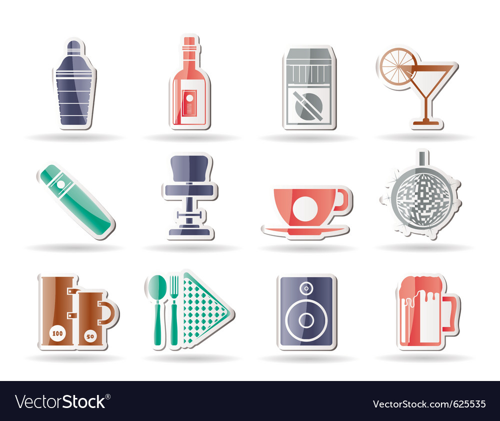 Bar and drink icons