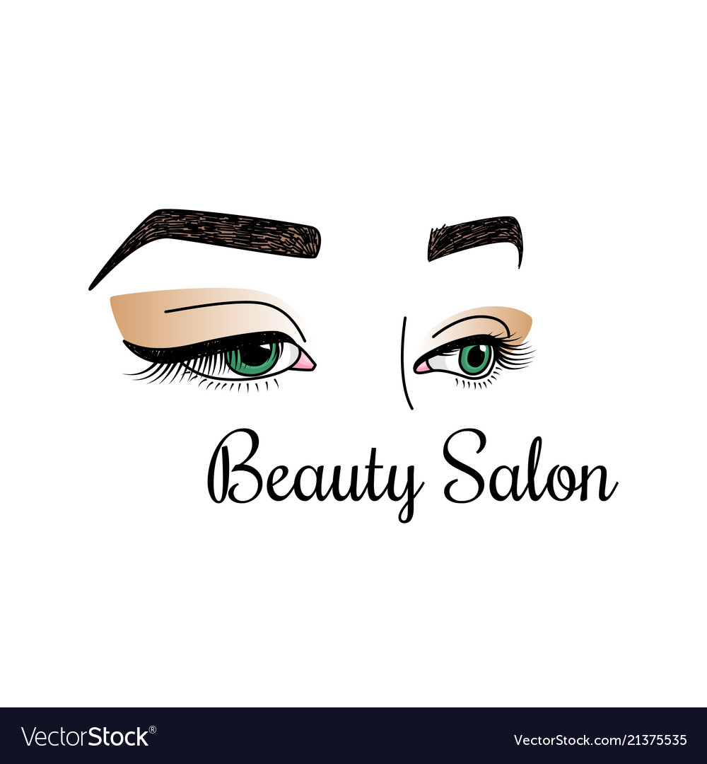 Beauty salon logotype with womens