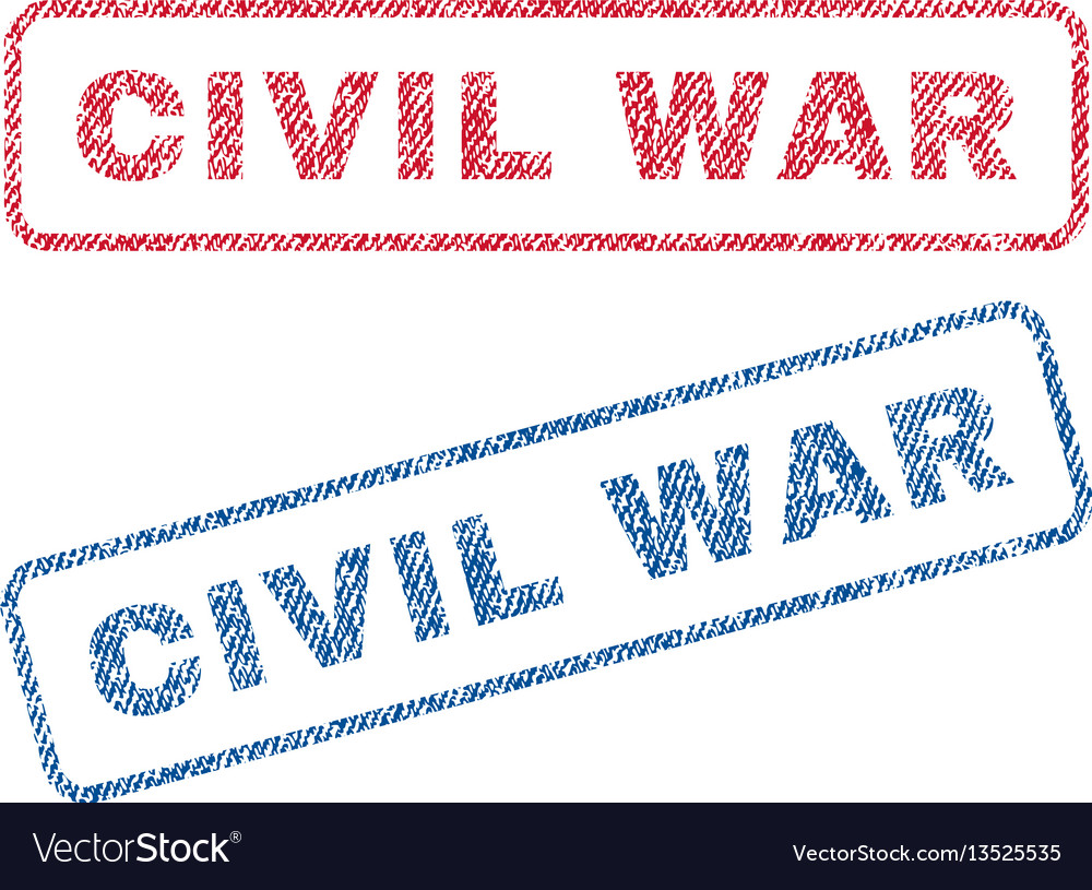 Civil war textile stamps vector image