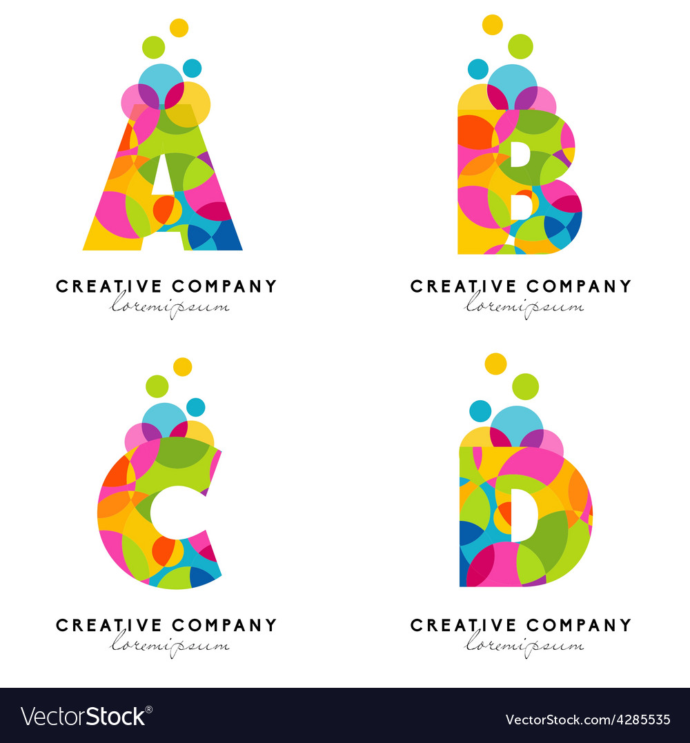 Creative Alphabet Letters Royalty Free Vector Image