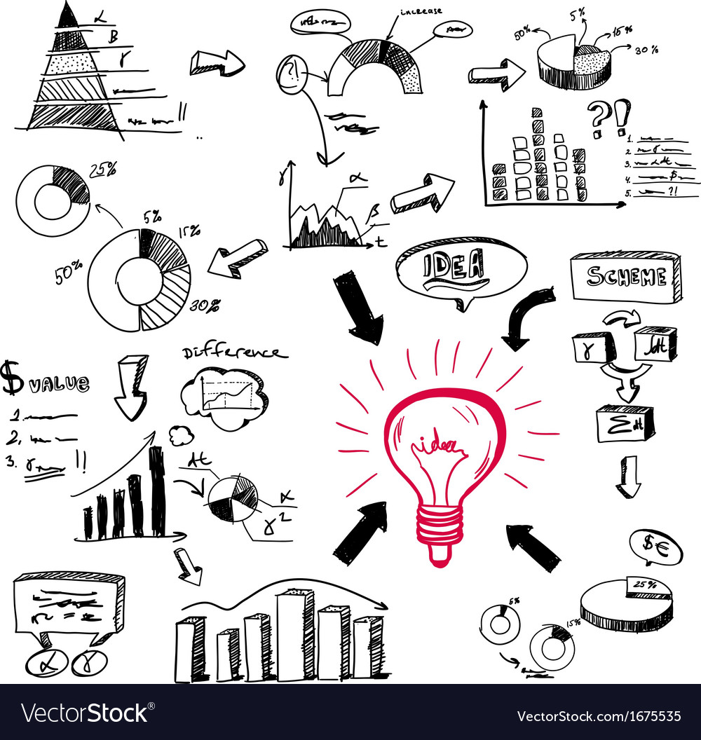 Doodle infographics vector image