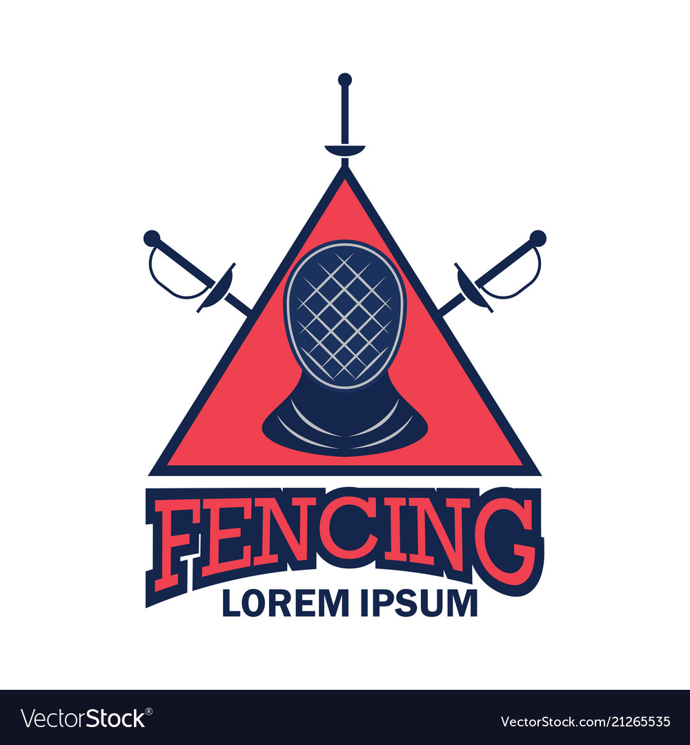 Fencing logo with text space for your slogan
