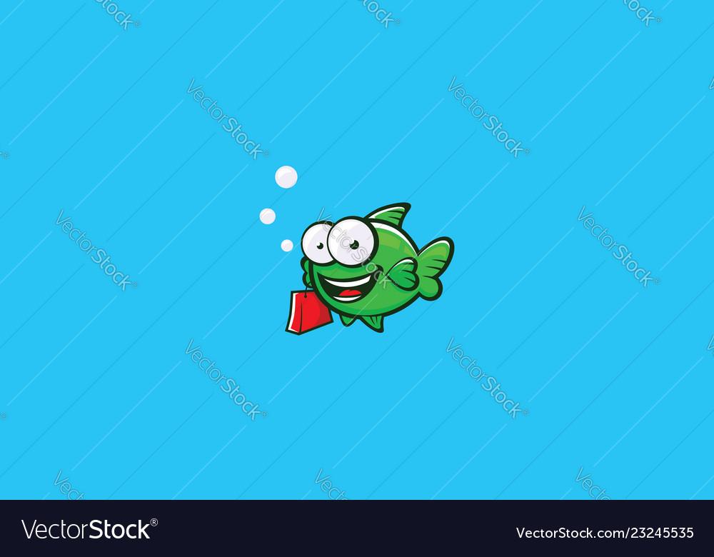 Fish shopping logo icon