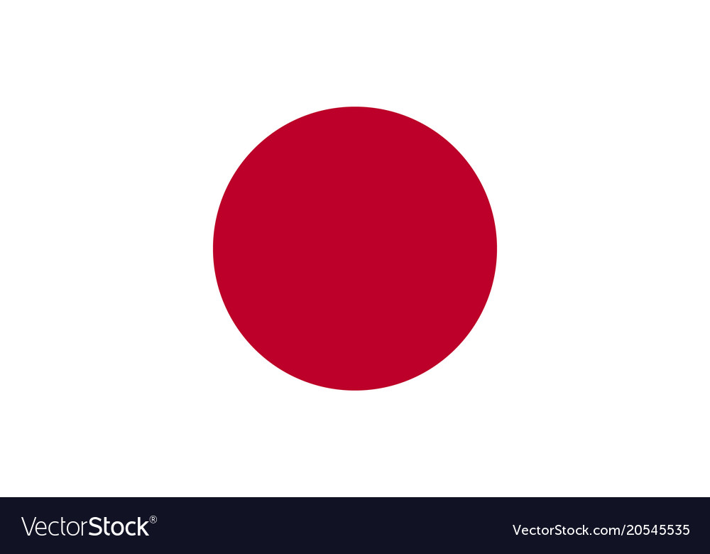 Flag Of Japan National Symbol Of The State Vector Image
