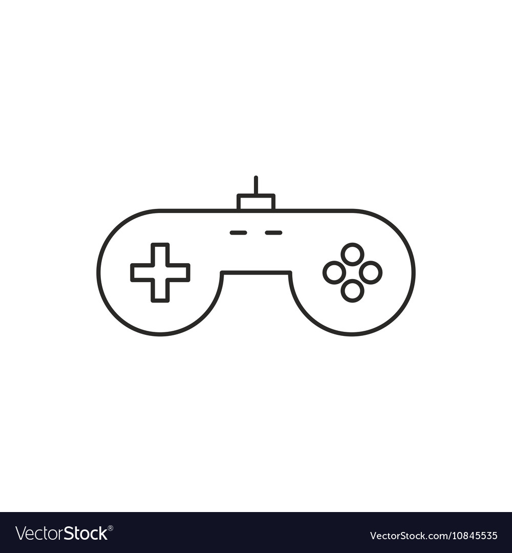 Game Icon Outline Royalty Free Vector Image VectorStock - Game outline