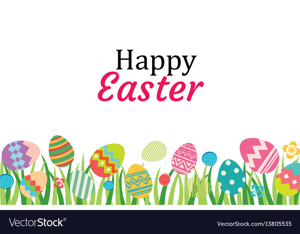 Happy easter egg background template