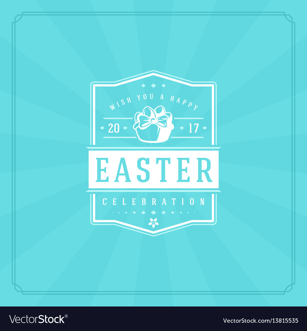 Happy easter greeting card design text template