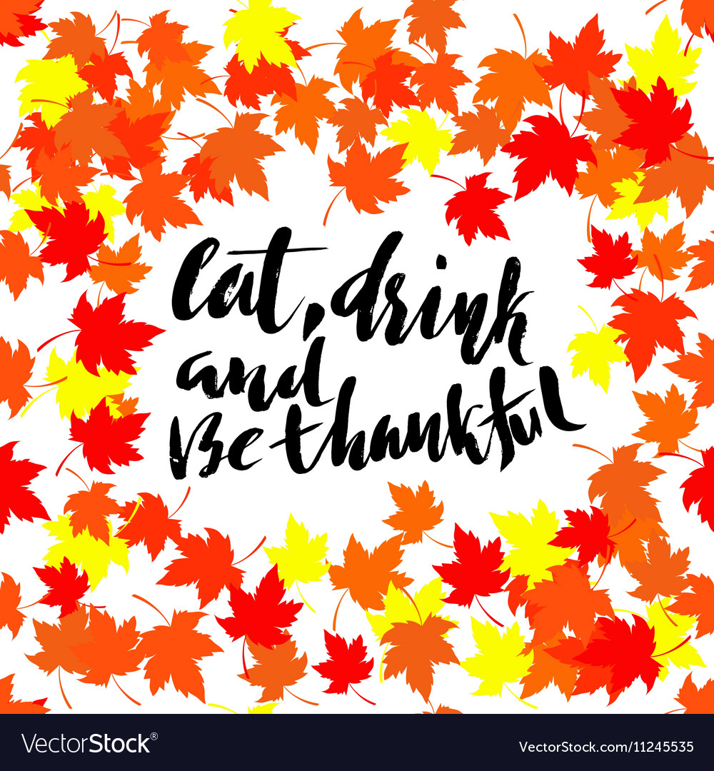 Happy thanksgiving lettering greeting text and vector image m4hsunfo