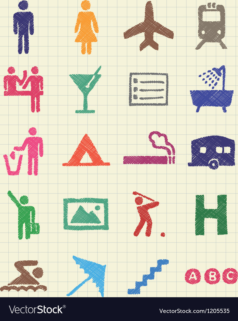 Hotel and service web icons set