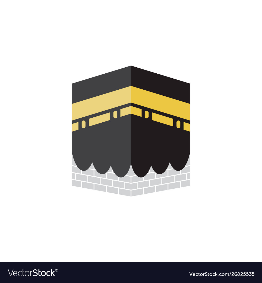kabah islamic graphic design template isolated vector image vectorstock