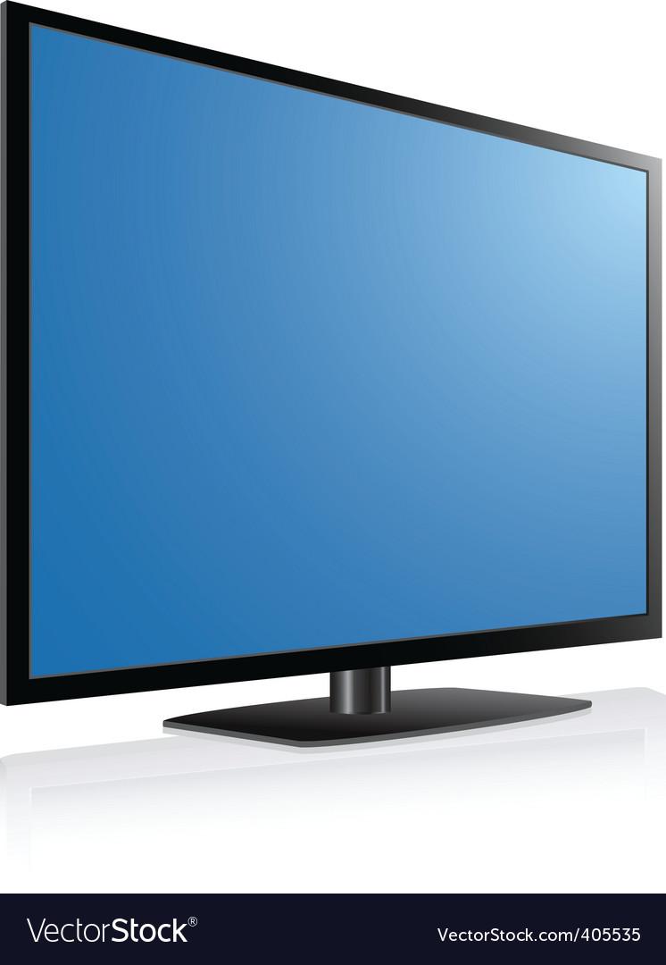 Plasma Tv Royalty Free Vector Image Vectorstock