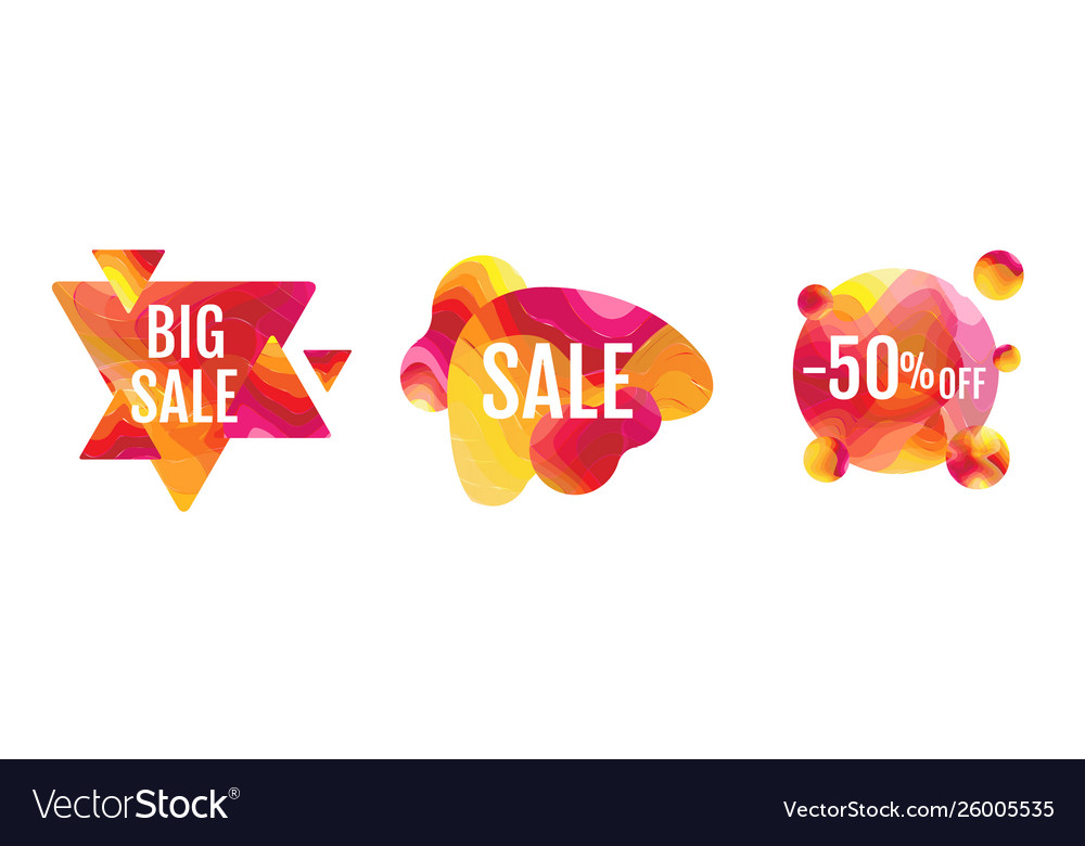 Sale banner abstract liquid shape isolated