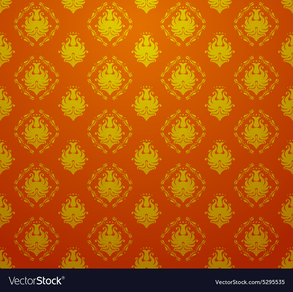 Seamless retro vintage victorial baroque wallpaper