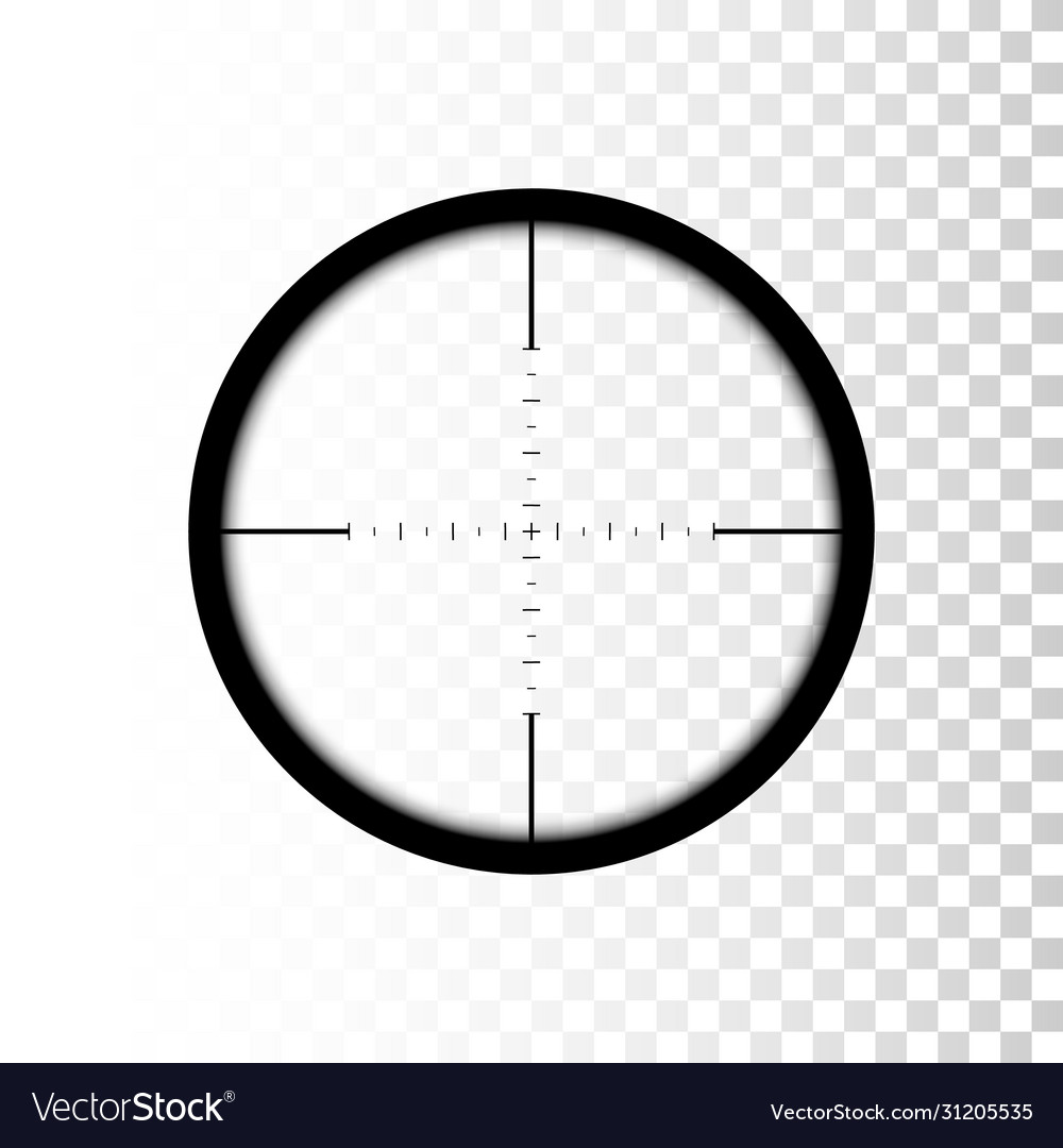 Sniper scope focus on target through sniper scope
