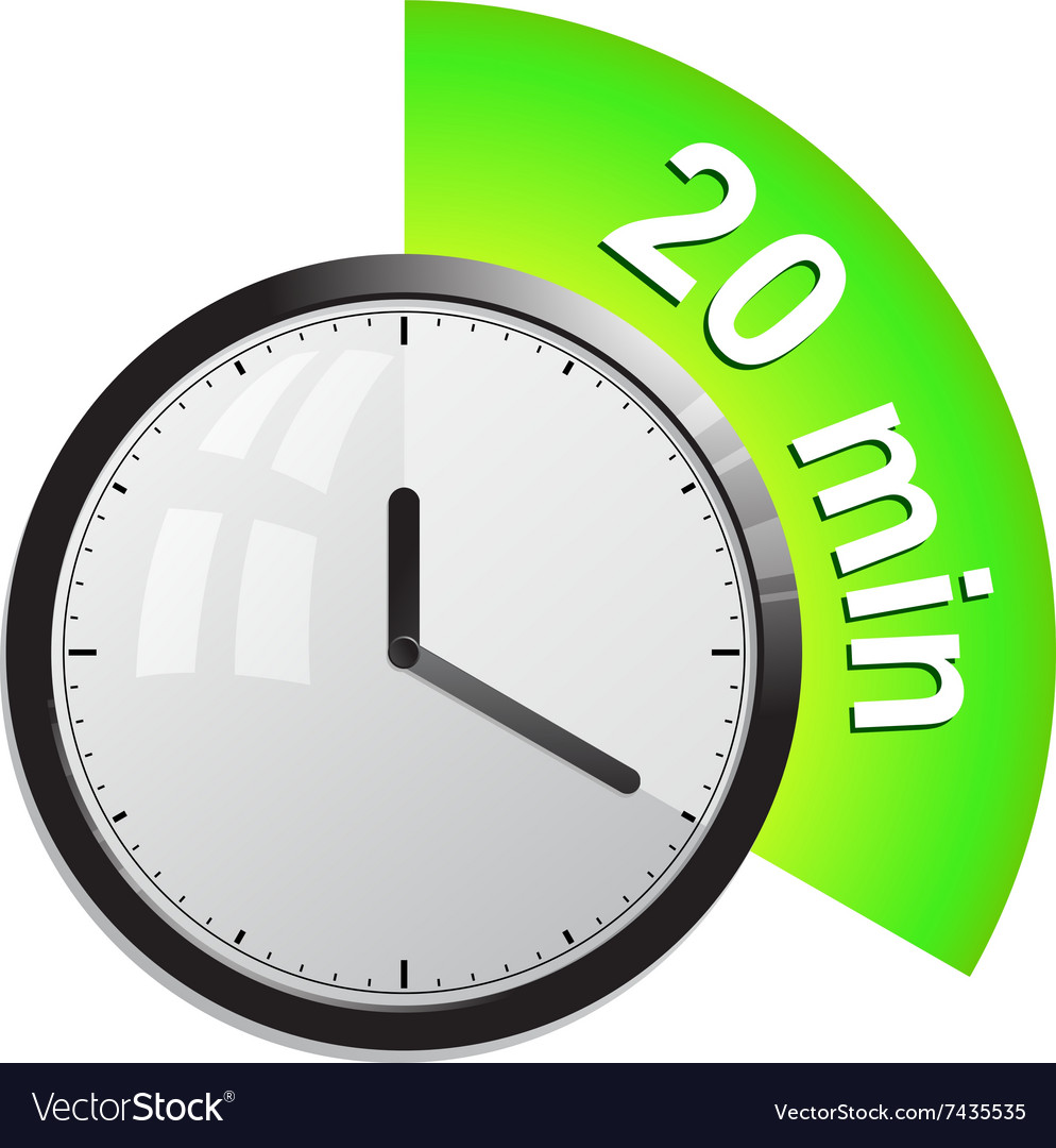 timer 20 minutes royalty free vector image vectorstock