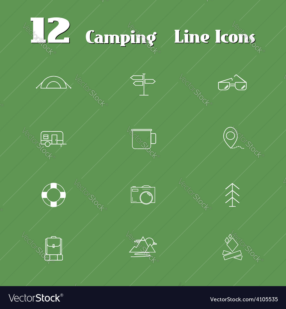 Travel Line Icons for Web and Mobile Minimalistic
