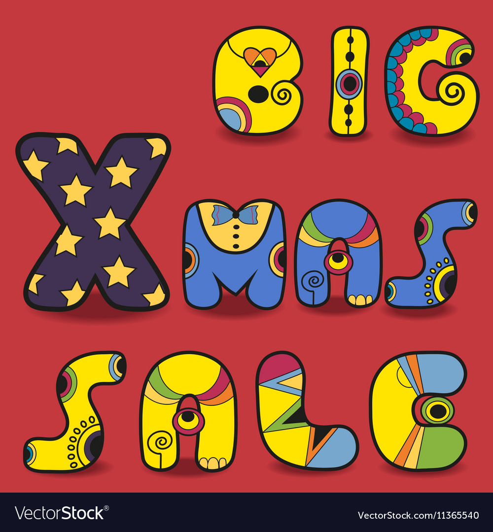 Big Xmas sale Card for retail