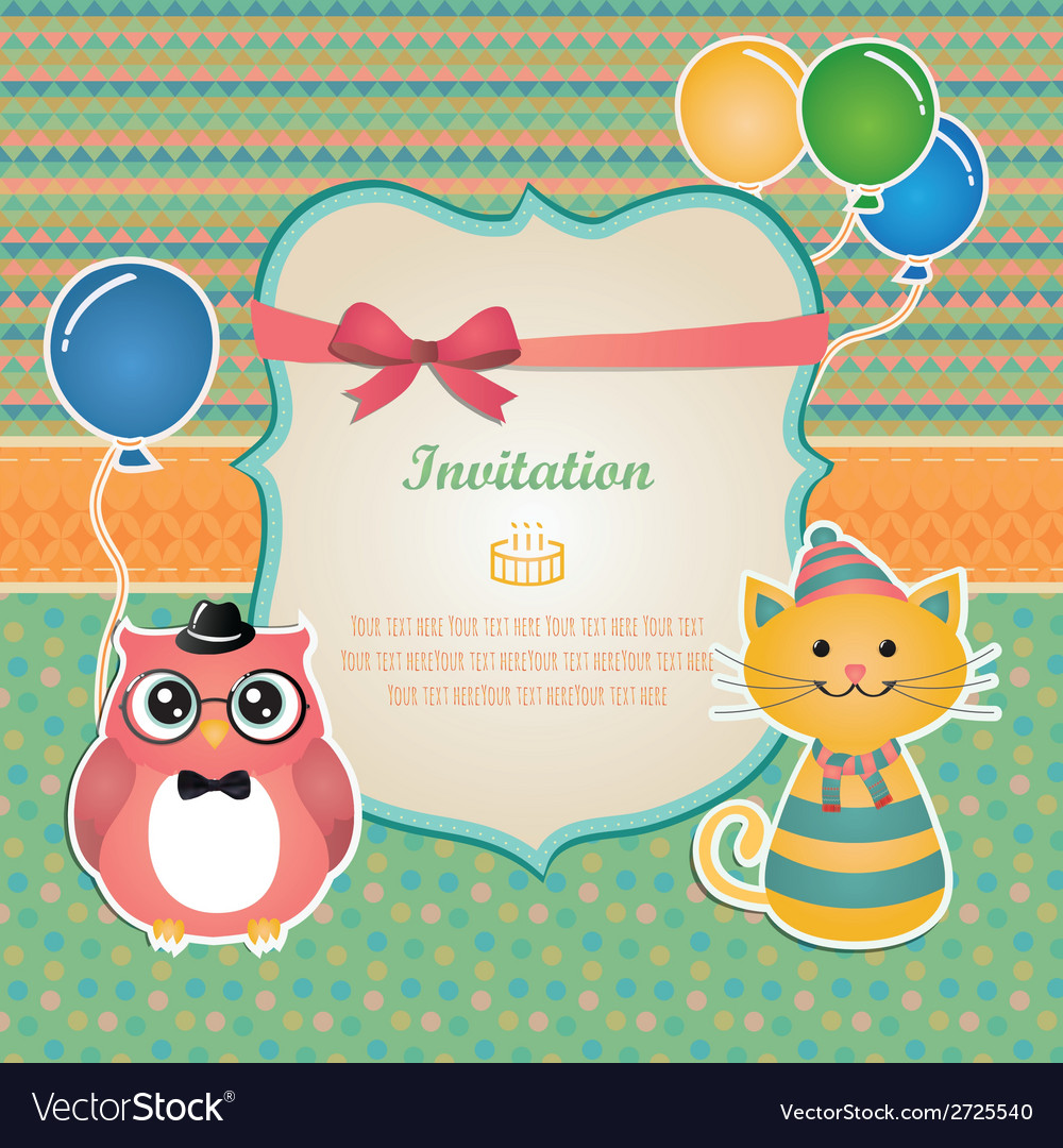 Birthday Party Invitation Card Design