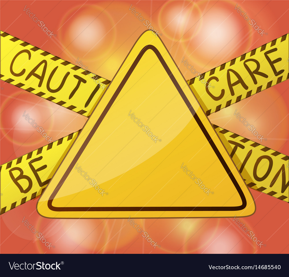 Caution warning yellow sign without text symbols