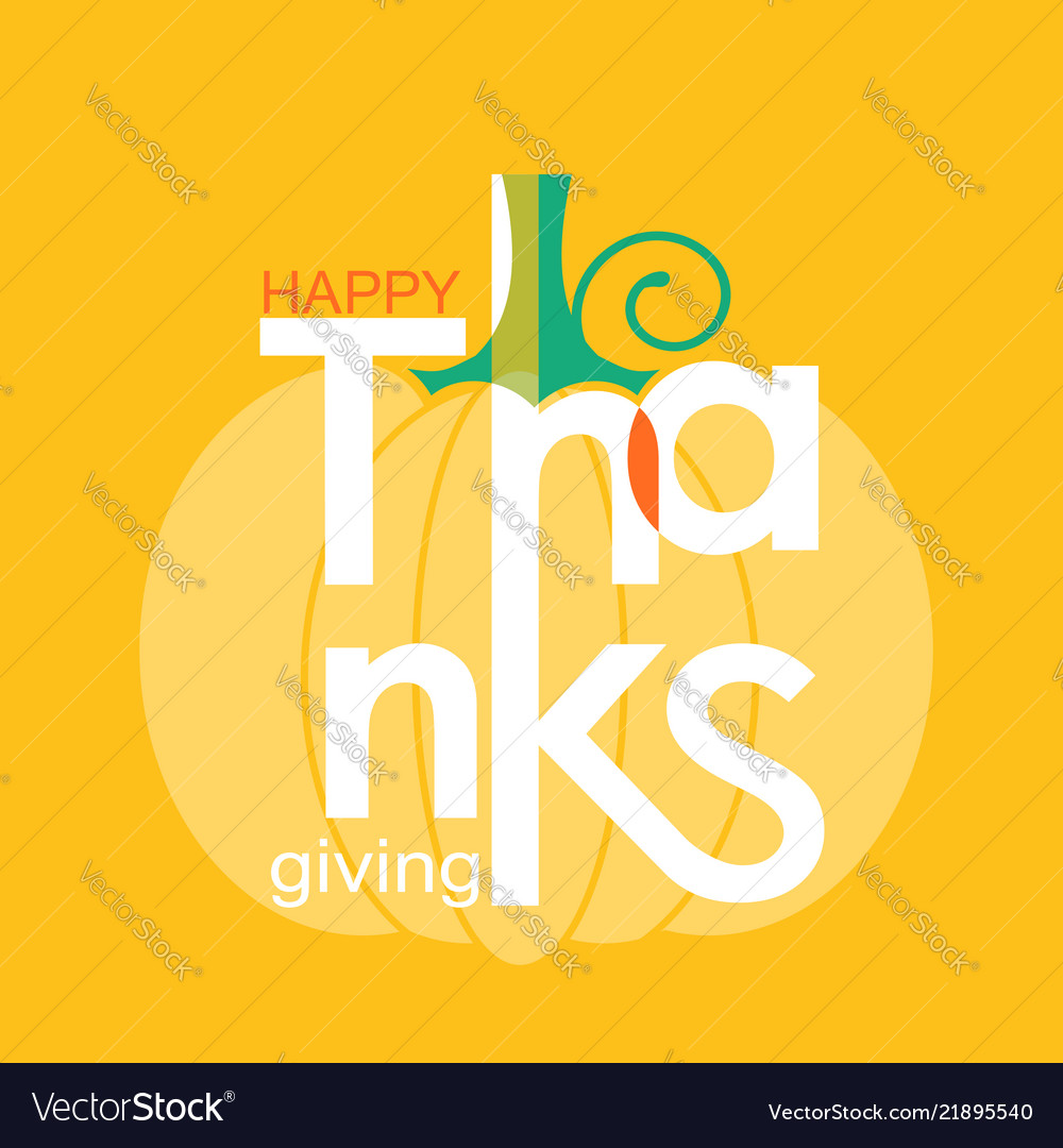 Happy thanksgiving day holiday symbol pumpkin and