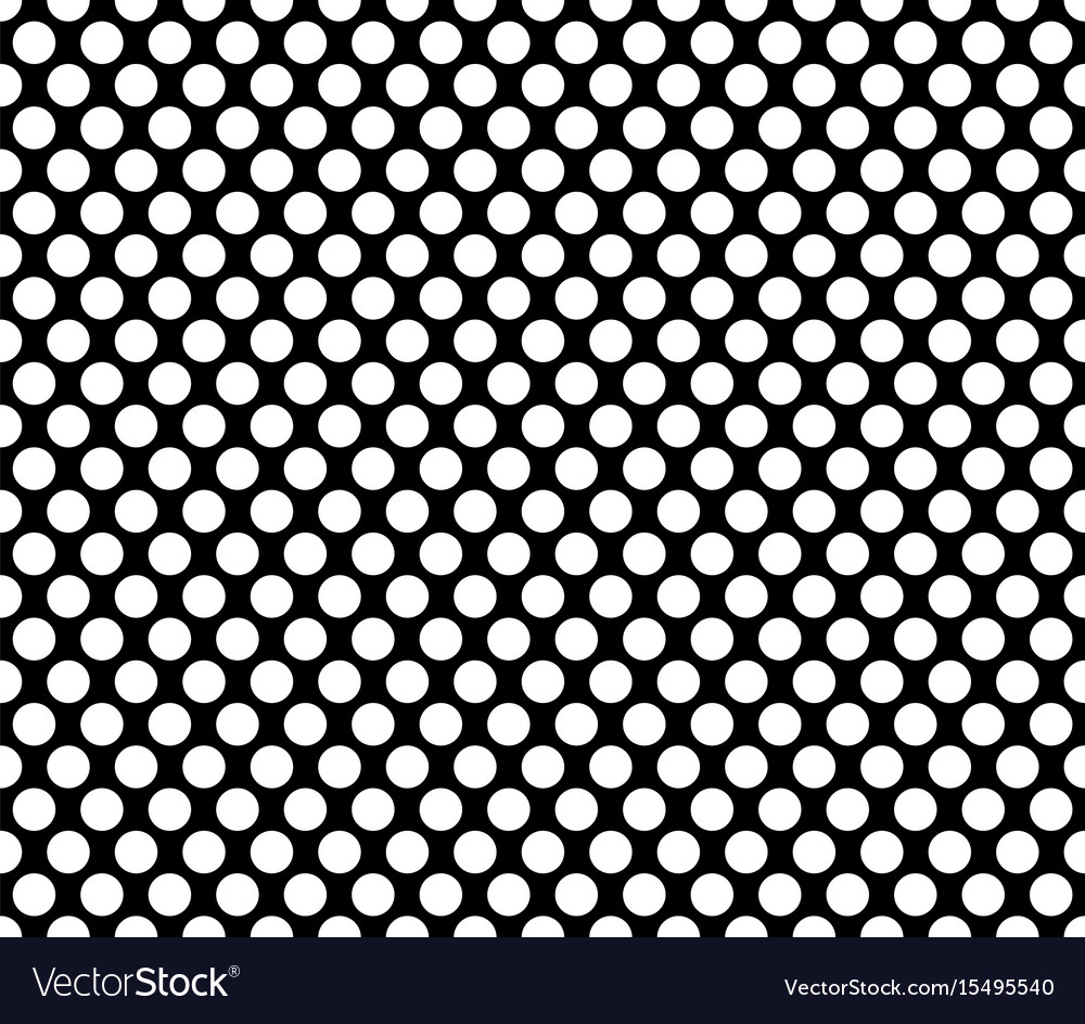 Polka dot seamless pattern black background