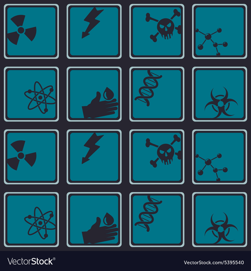 Seamless background with science icons vector image