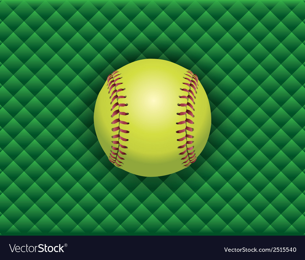 Softball checkered background vector image