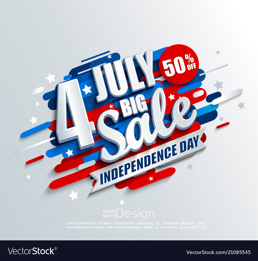 Big sale banner for independence day