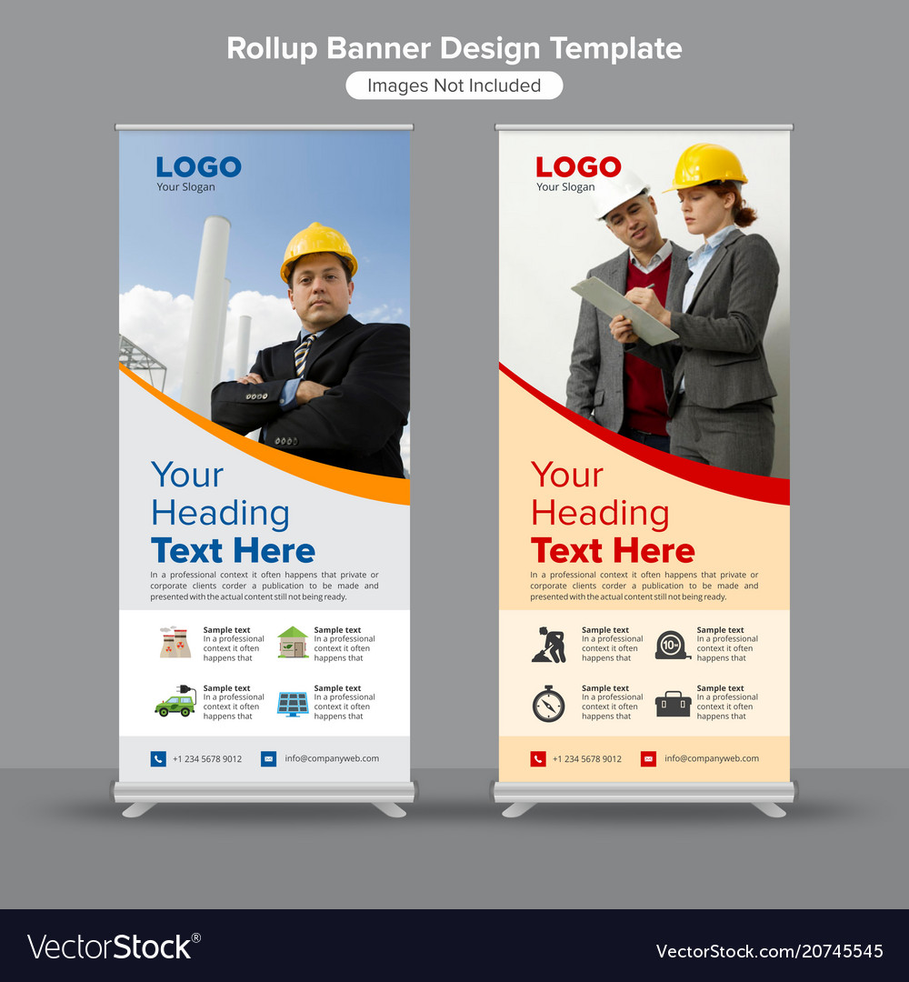 Energy and construction roll up banners