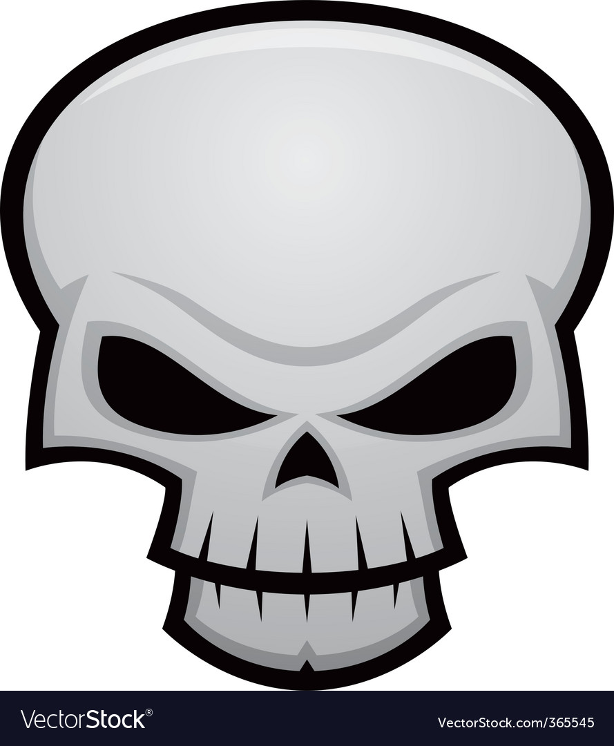 evil skull royalty free vector image vectorstock rh vectorstock com skull vector art skull vector free download