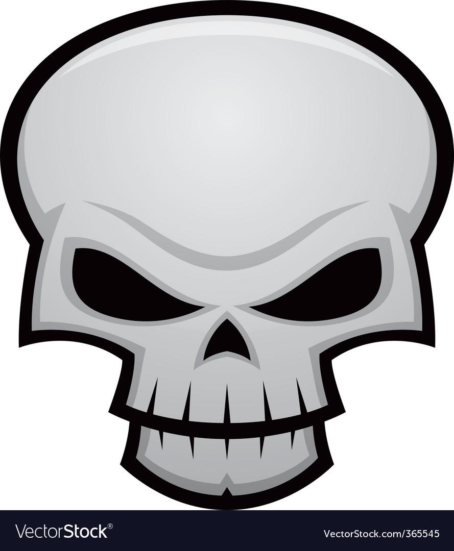 evil skull royalty free vector image vectorstock rh vectorstock com skull vector free download skull vector file
